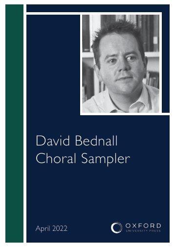 David Bednall choral sampler