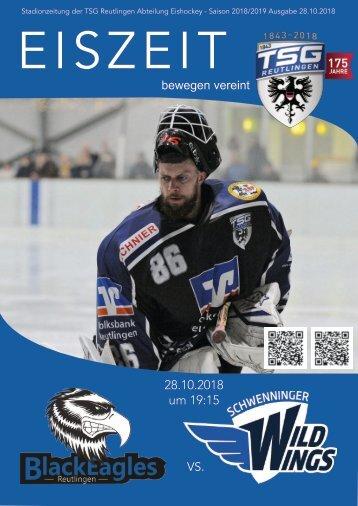 TSG Black Eagles vs. SERC Schwenningen Fire Wings 28102018