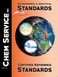 Chem-Service Inc General Catalogue 2017