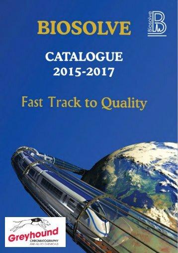 Biosolve Catalogue 2016