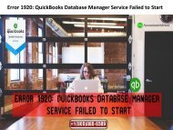 QuickBooks Database Manager Service stopped working