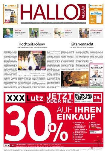 Hallo-Allgäu Memmingen vom Samstag, 27.Oktober
