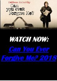 WATCH NOW MOVIE Can You Ever Forgive Me 2018 HD-BLURAY