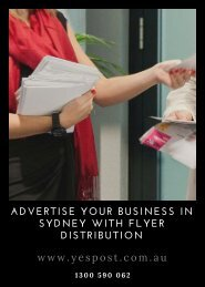 Advertise Your Business in Sydney with Flyer Distribution