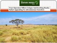 Tour Operator Offers Unique And Exciting Ruaha Safari Appealing To Adventurous Travelers
