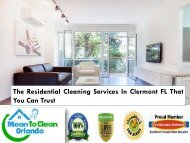 The Residential Cleaning Services In Clermont FL That You Can Trust