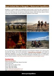 Royal Enfield Ride In Mongolia-Motorcycle Expeditions