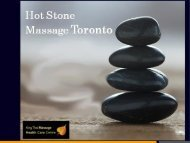 Hot Stone Massage Toronto – Best Massage Therapy
