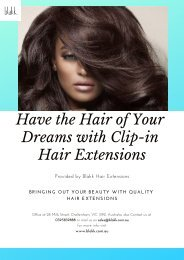 Best Clip in Hair Extensions Melbourne - Blakk