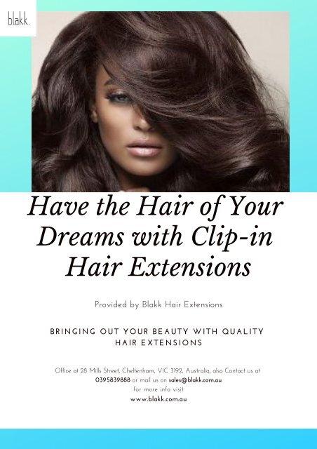 Best Clip in Hair Extensions Melbourne - Blakk