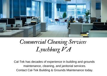 Commercial Cleaning Services Lynchburg VA