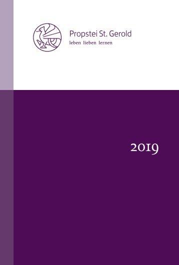 Seminar- und Kulturprogramm 2019 der Propstei St. Gerold