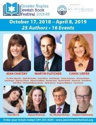 Jewish Book Festival brochure