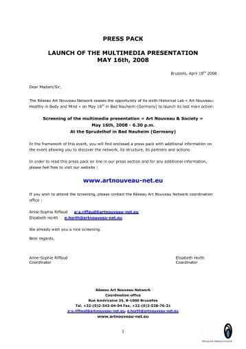 MMP press pack - Art Nouveau Network