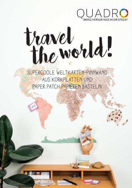WeltkartenpinnwandausKorkbasteln