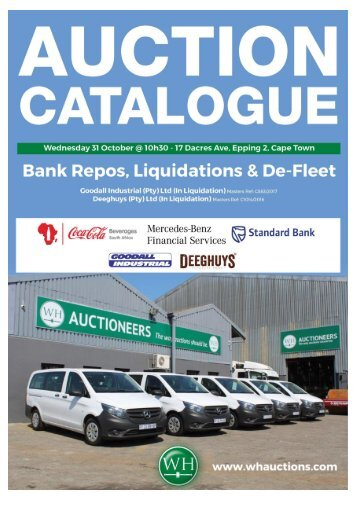 WH Auction Catalog - Cape Town 31 October