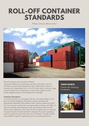 ROLL-OFF CONTAINER STANDARDS