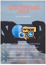 SEARCH ENGINES YOU CAN USE ASIDE FROM GOOGLE