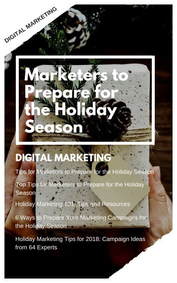 Marketers to Prepare for the Holiday Season