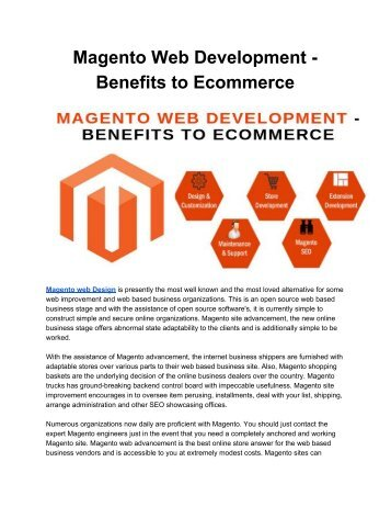 Magento Web Development - Benefits to Ecommerce