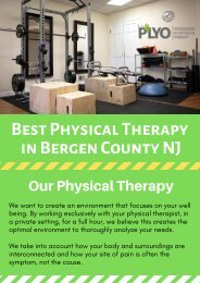 Best Physical Therapy Clinic in Allendale NJ | Plyo Physical Therapy
