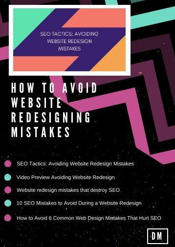 How to avoid website redesigning mistakes