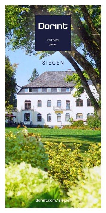 Hausprospekt Dorint Parkhotel Siegen
