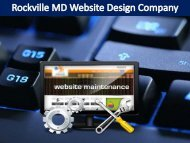 Rockville MD Website Design Company