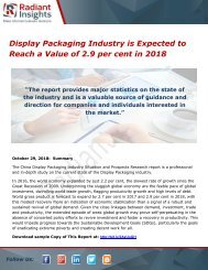 Display Packaging Industry is Expected to Reach a Value of 2.9 per cent in 2018
