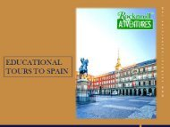 Educational Tours to Spain – Best for Students