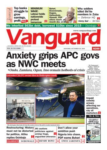 29102018 - Anxiety grips APC govs as NWC meets