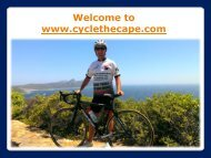 Bicycle Hire In Cape Town