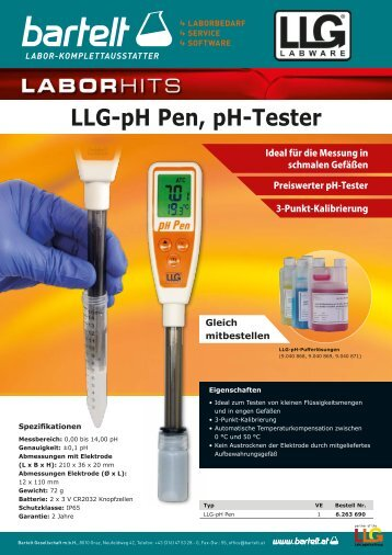 pH Pen Aktion Labware pH Messung