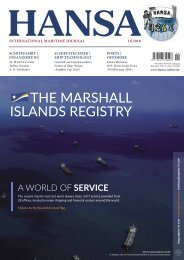 HANSA - International Maritime Journal, November 2018