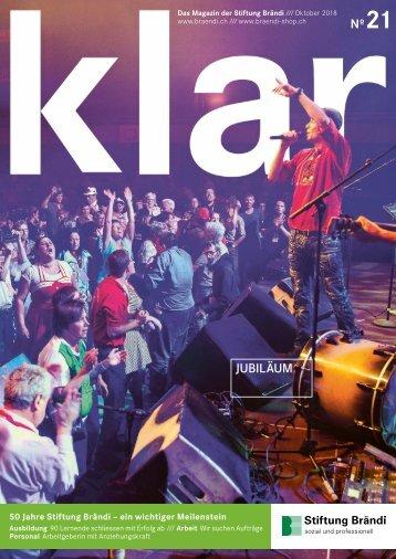 Stiftung Brändi Klar Magazin Nr. 21