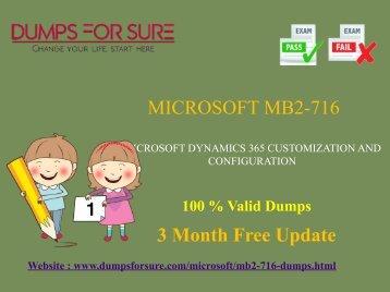 Microsoft MB2-716 Dumps