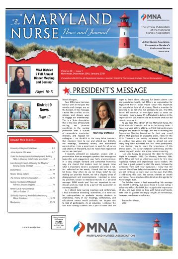 The Maryland Nurse - November 2018