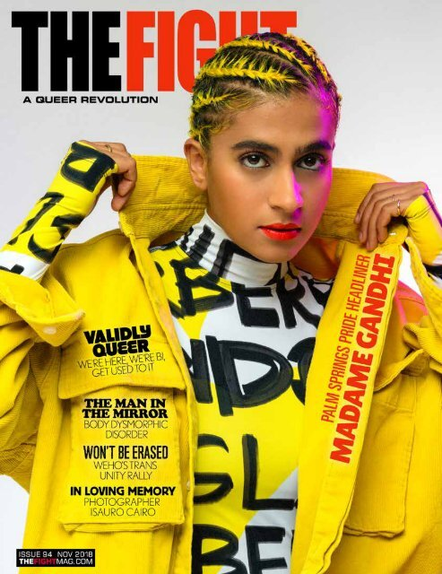 THE FIGHT SOCALS LGBTQ MONTHLY MAGAZINE NOVEMBER 2018