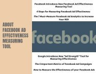 About Facebook AD Effectiveness Measuring Tool
