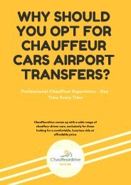 Why Should You Opt For Chauffeur Cars Airport Transfers