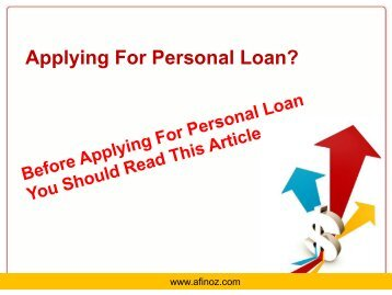How to Get Best Personal Loan