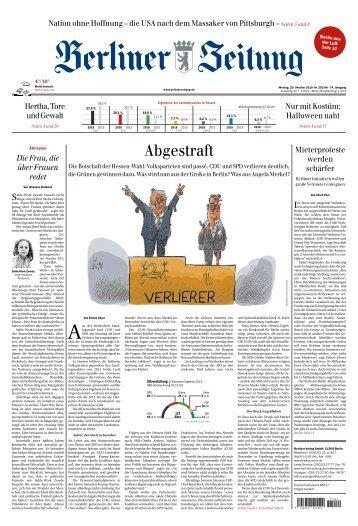 Berliner Zeitung 29.10.2018