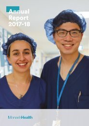 Annual Report 2017-18   Monash Health