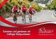 Zollinger Radsportreisen Katalog 2019