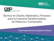 Título de Técnico en Diseño, Materiales y Procesos para la Industria Transformadora de Plásticos y Composites