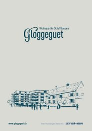 Verkaufsdokumentation Gloggeguet, 8207 Schaffhausen