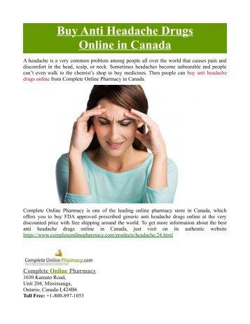 Buy Anti Headache Drugs Online in Canada