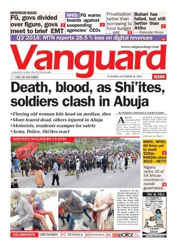 30102018 - Death, blood, as Shi'ites, soldiers clash in abuja
