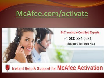 mcafee.com/activate - install and activate product here